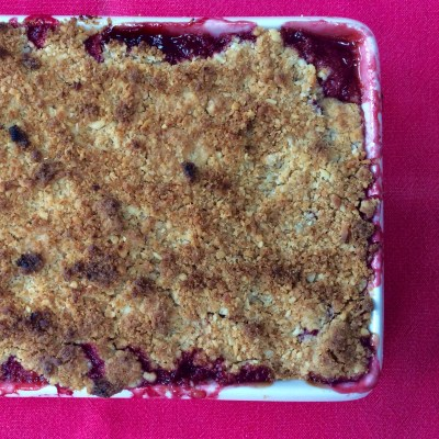 Not easy to photograph - the baked crumble.