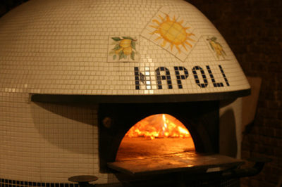 A typical Neapolitan wood-burning oven