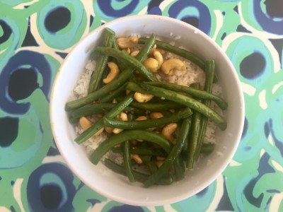 green beans with cashew