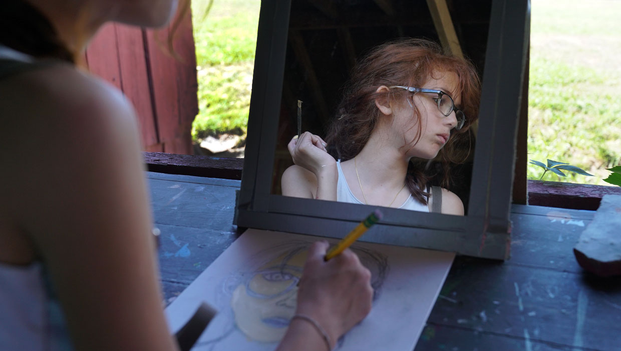 art selfportrait camp