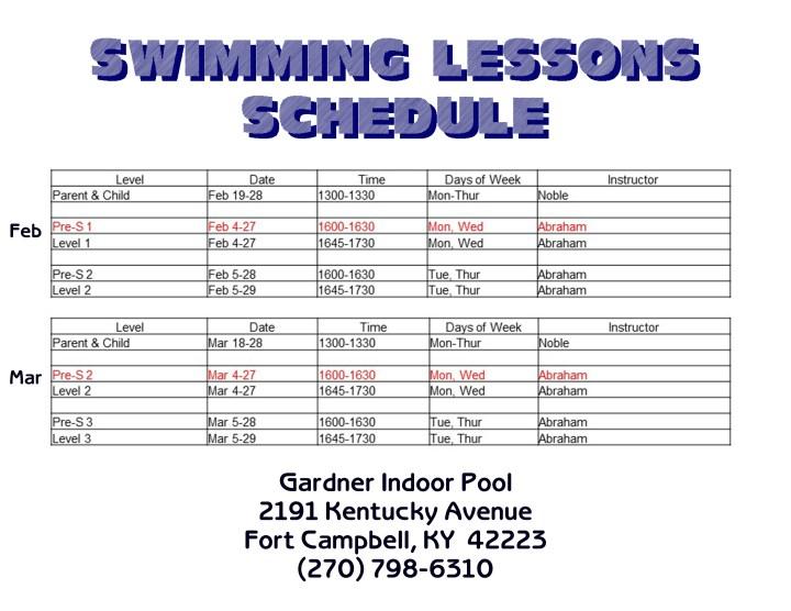 fort campbell mwr aquatics indoor and outdoor pools