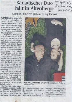 Munster, Germany - press clipping