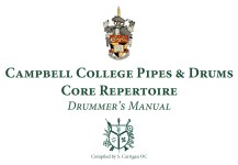 Drummer's Manual – Core Repertoire