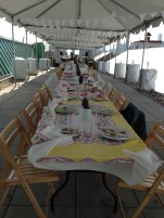 Shabby Chic Tablescape at Brooklyn Grange Farm