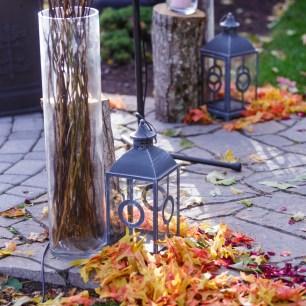 Poconos Fall Wedding Ceremony Set up