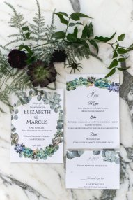 Invitation Suite for succulent themed wedding in Canby Oregon