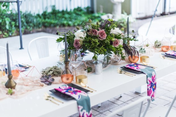 Portland Oregon Floral Tablescape