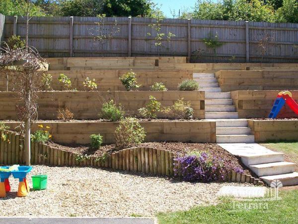 creating tiered backyard