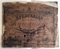 """Spencerian System of Practical Penmanship"" belonging to James Campbell, ca. 1864"