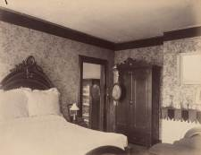 Another missing bed, this one from Hugh Campbell's bedroom. Today this room has been restored as a library.