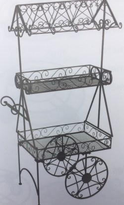Large Scroll Flower Cart