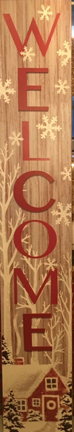 Red Barn Welcome Sign