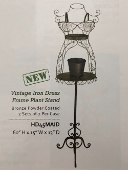 Vintage Iron Dress Frame Plant Stand