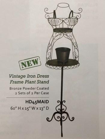 Vintage Iron Dress Frame Plant Stand