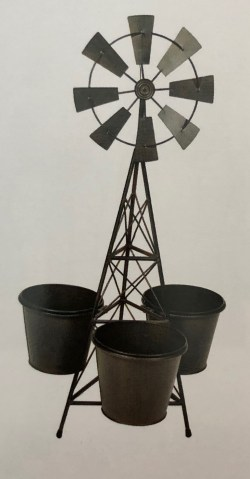 "Windmill Planter with 6"" Pots"