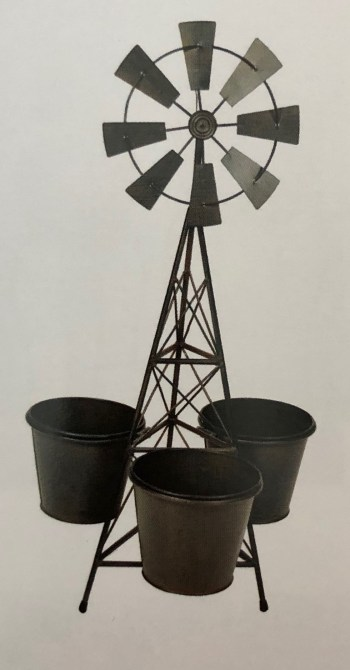 """Windmill Planter with 6"""" Pots"""