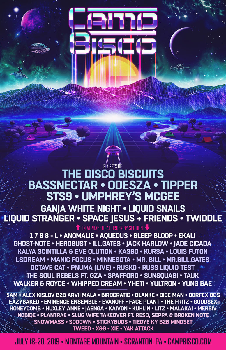 Image result for camp bisco 2019 lineup