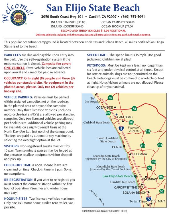 Carlsbad State Beach Camping Map : carlsbad, state, beach, camping, Cardiff, State, Beach, Camping