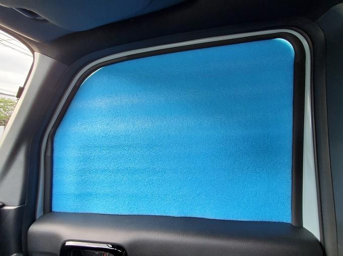 N-VAN 車中泊 シェード 手作り カーテン 銀マット マルチシェード