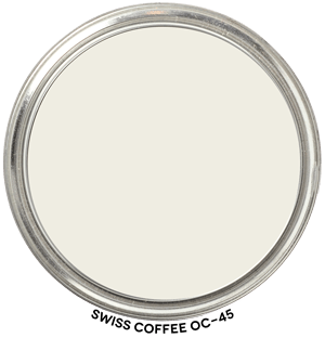 Swiss Coffee OC-45 by Benjamin Moore Paint Blob