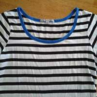 Stripey Shirt Says Buh-Bye Blue {cue the scissors}