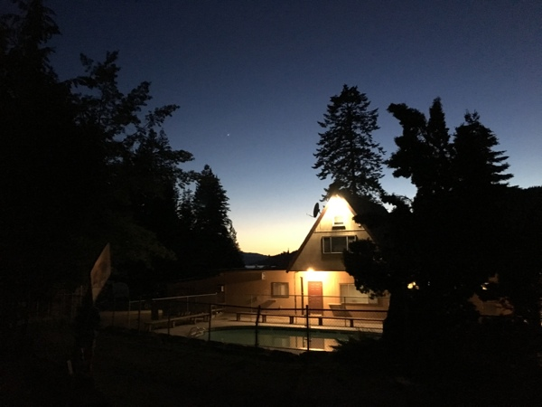 Camp Coeur D'Alene Campground Pool At Night Image 600px
