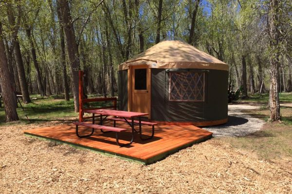 Yurt camping option at Dolores River Campground (Dolores CO)