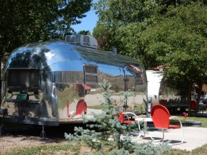 Dolores River Campground has two vintage RVs for rent. (Dolores CO)