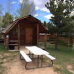 One of our 13 cozy camping cabins at Base Camp at Golden Gate Canyon (Black Hawk CO)