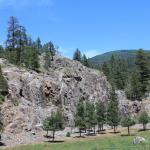 Real trees. Real rocks. Real blue sky. Real Colorado. Blue Spruce RV Park! (North of Bayfield Colorado)