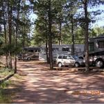 RV sites at the RV park of Bristlecone Lodge in Woodland Park, Colorado