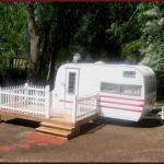 Little Darlin', our restored 1964 Winnebago (available for rent) Cedar Creek RV Park (Montrose CO)