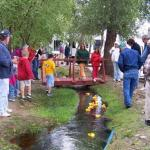 Duck races on holiday weekends at Chalk Creek RV Park & Campground near Buena Vista Colorado