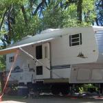Wide sites with room for RV slideouts or awnings at Chalk Creek RV Park & Campground near Buena Vista Colorado