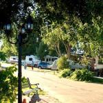 Most RV sites are grassy; some shaded (Greeley RV Park, Colorado)