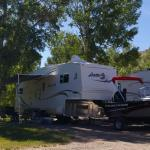 Plenty of shade, plus room for your toys at Gunnison Lakeside RV Park and Cabins in Colorado