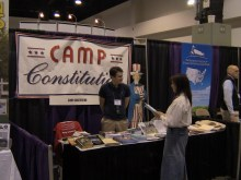 Nathaniel Shurtleff at Camp Constitution's info table.