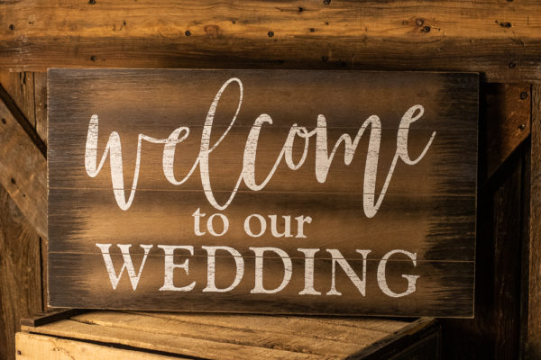 #18 Welcome to our Wedding Sign