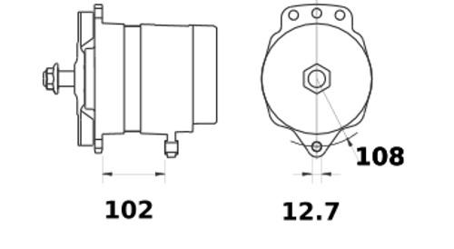 Lichtmaschine Marine 24V/150A f.Volvo Penta Inboard and