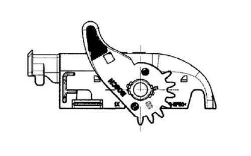 Bosch 56P Deckel Abgang rechts Schieber links 1928404882