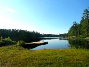 The dock at Gut Lake