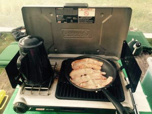 my coleman stove that I love dearly! Makes cooking so easy when camping!