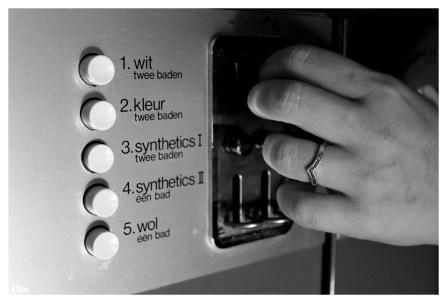 tot als ze een machine in handen krijgt waar ze het gewenste programma kan instellen.