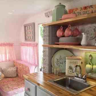 Vintage Camper Interior 13