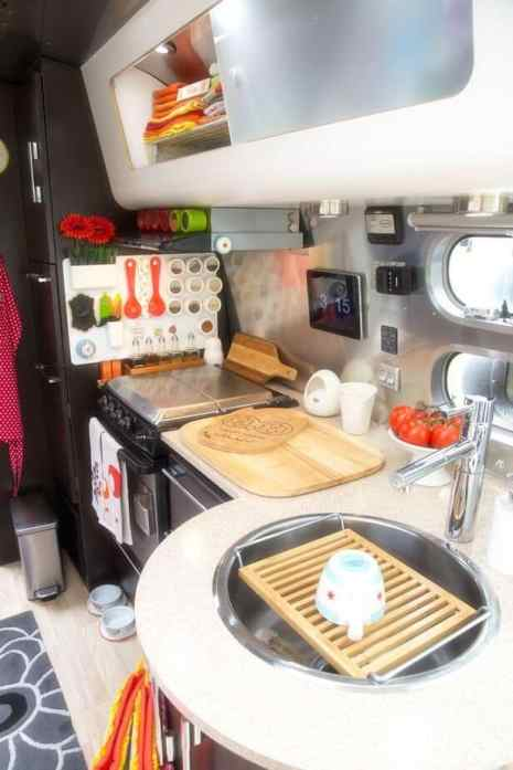 Camper Kitchen Organization 26