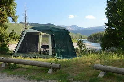 Dry Campingwith Tent