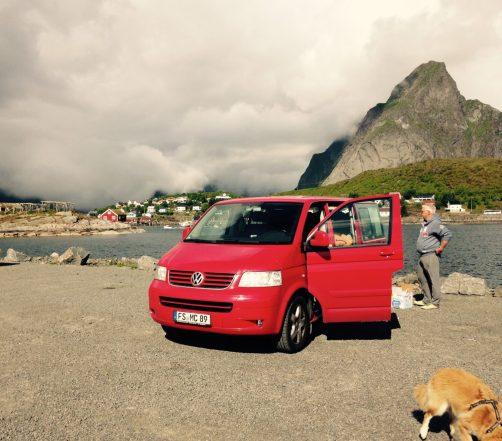 Stellplatz in Reine auf den Lofoten