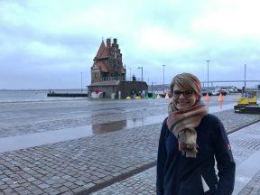 Romy Kiebel vom Ozeaneum vertraut dem Hochwasserschutz