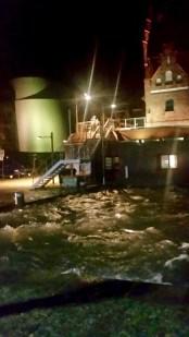 Spundwände schützen das Ozeaneum Stralsund vor Hochwasser