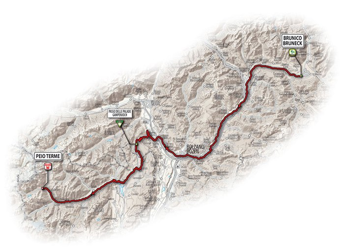 Le tappe del Giro dItalia nel territorio italiano